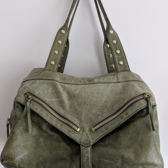 Botkier Handbags - Botkier Trigger Medium Satchel green leather